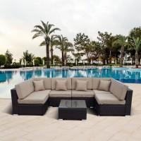 Комплект мебели (иск. ротанг)  7 элементов YR822BB