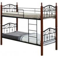 Кровать двухъярусная с изножьем  Mabel MK-5226-RO