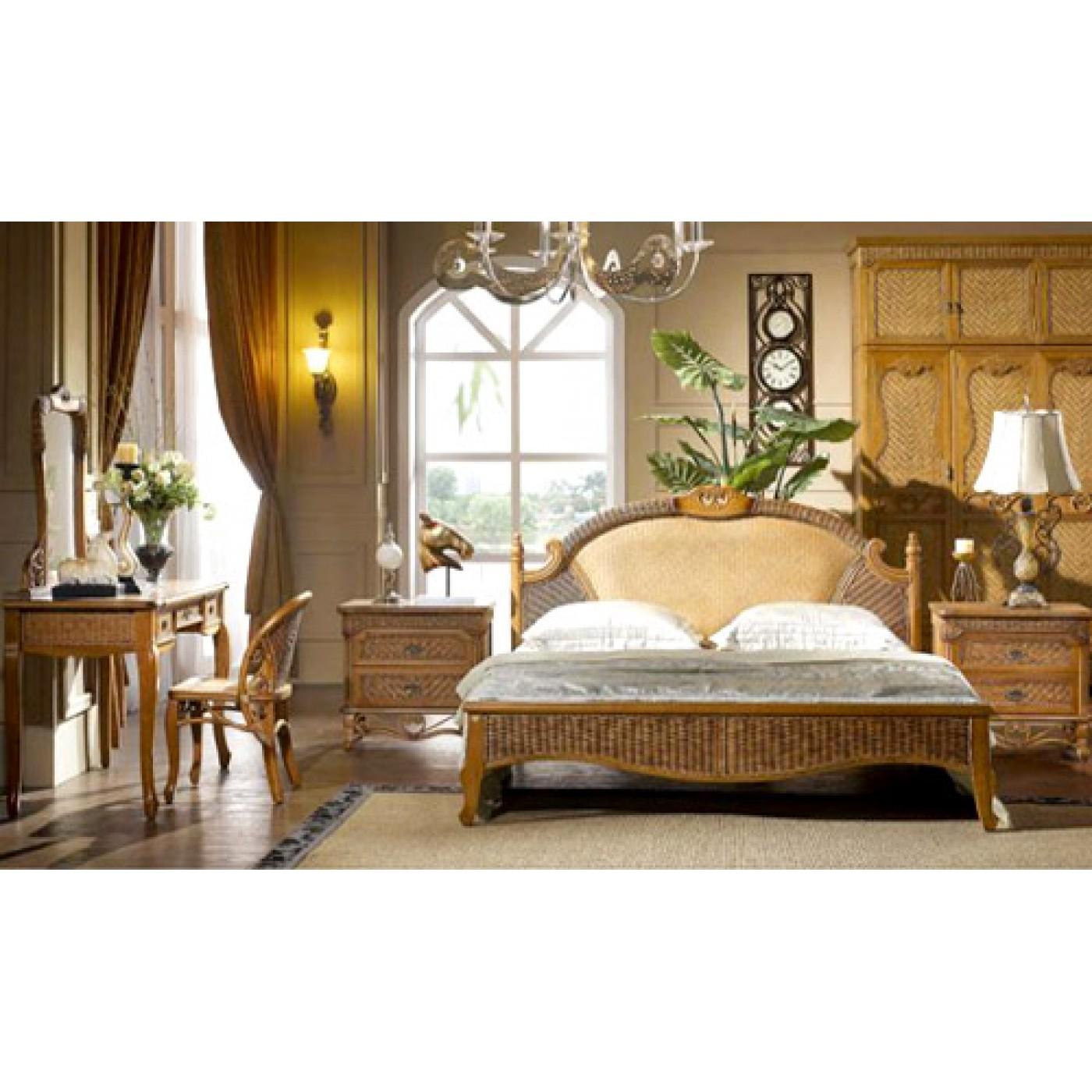 Кровать 150 из ротанга