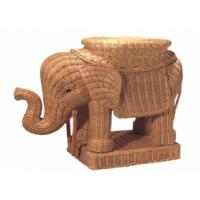 Слон - пуф плетеный из ротанга