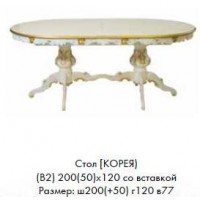 Стол КОРЕЯ 200(50)*120