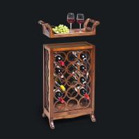 Винная подставка на 15 бутылок со съемным подносом (арт. 125)