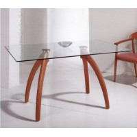 Стол обеденный прямоугольный (стеклянный)