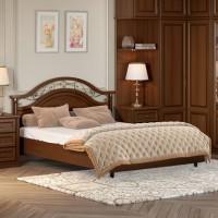 Двуспальная кровать 1600х2000, вариант №1 без ножной спинки Joconda орех