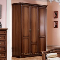 Шкаф 3-х дверный для платья и белья Joconda орех
