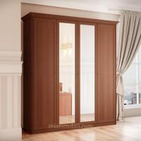 Шкаф 4-х дверный для платья и белья Ekaterina орех