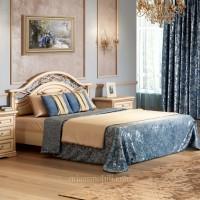 Двуспальная кровать 1600x2000, вариант №1 без ножной спинки Joconda крем