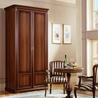 Шкаф 2-х дверный для платья и белья Joconda орех