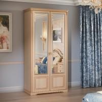 Шкаф 2-дверный для платья и белья Joconda крем