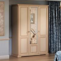 Шкаф 3-дверный для платья и белья Joconda крем