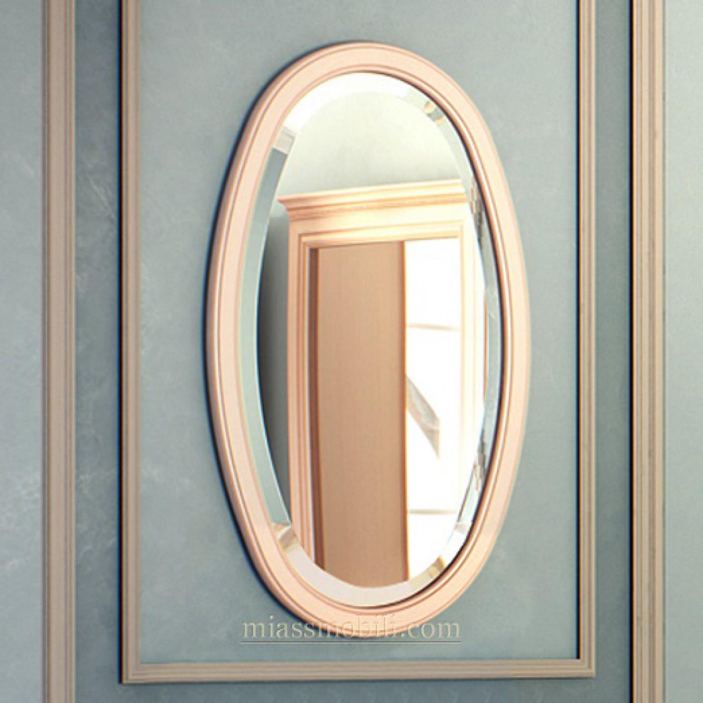 Зеркало навесное овальное к столу консольному Joconda крем