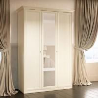 Шкаф 3-дверный для платья и белья Ekaterina крем