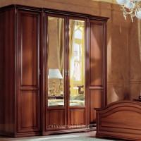 Шкаф 4-х дверный для платья и белья Joconda орех