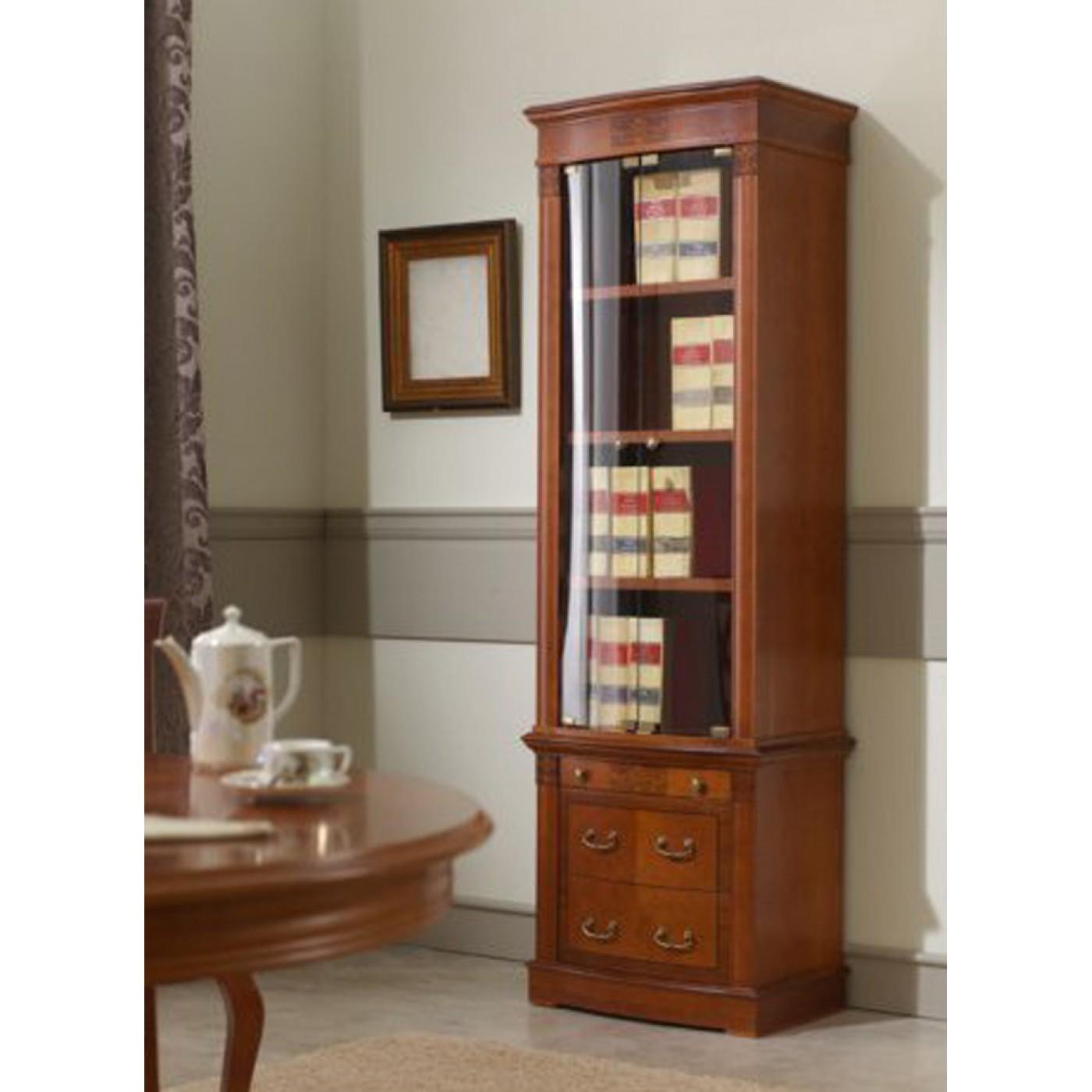 Модульный книжный шкаф tarfa орех. шкафы для книг открытые и.