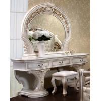 Туалетный стол с зеркалом + пуф