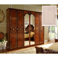 Шкаф 6 двери Рим R706Z Decape с зеркалом